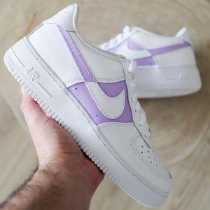 Custom Air Force 1 white/purple